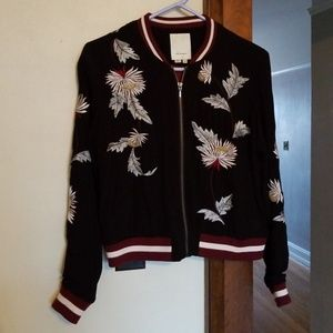 c105b15ee Embroidered Solstice Bomber by Elevenses